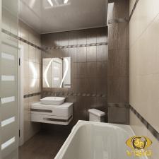 Визуализация ванной в квартире Греции